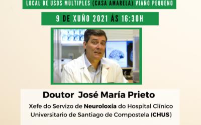 O neurólogo José María Prieto imparte unha charla sobre o Alzheimer en Trazo